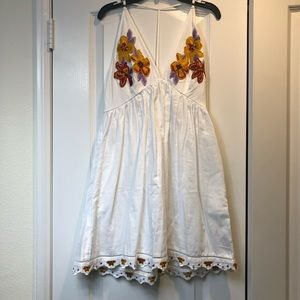 NWOT Free People embroidered halter dress SIZE XS